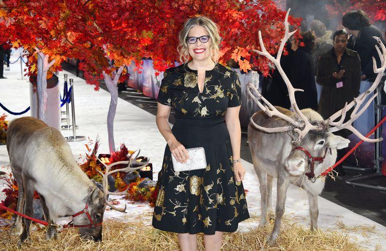 Jennifer Lee tijdens de première van 'Frozen 2' in Londen. In 2013 was ze de eerste vrouwelijke regisseur van een Disney-tekenfilm, intussen klom ze op tot chief creative officer van Disney. Beeld Photo News