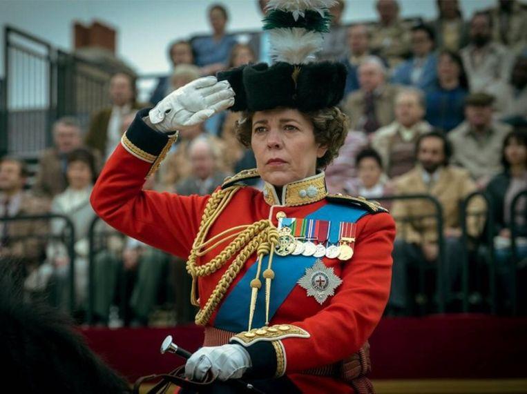 Olivia Colman als the Queen in 'The Crown' seizoen 4. Beeld Netflix