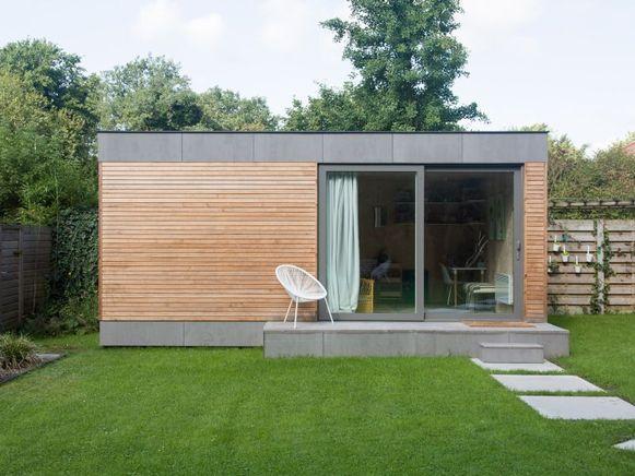 De geprefabriceerde modules van een modulaire woning worden in een atelier gemaakt in de meest ideale omstandigheden.