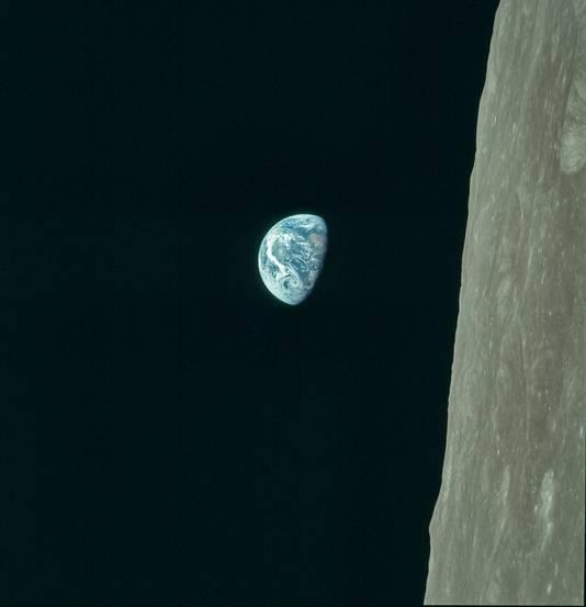Door de Apollo 8-missie zag de mensheid de planeet Aarde voor het eerst in kleur.