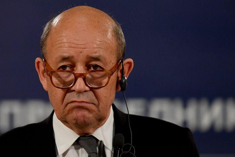 De Franse minister van Buitenlandse Zaken, Jean-Yves Le Drian.