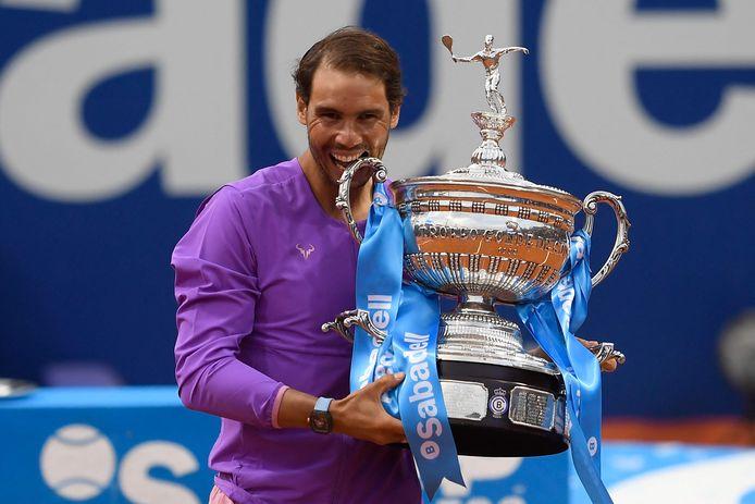Rafael Nadal na zijn toerwinst in Barcelona.