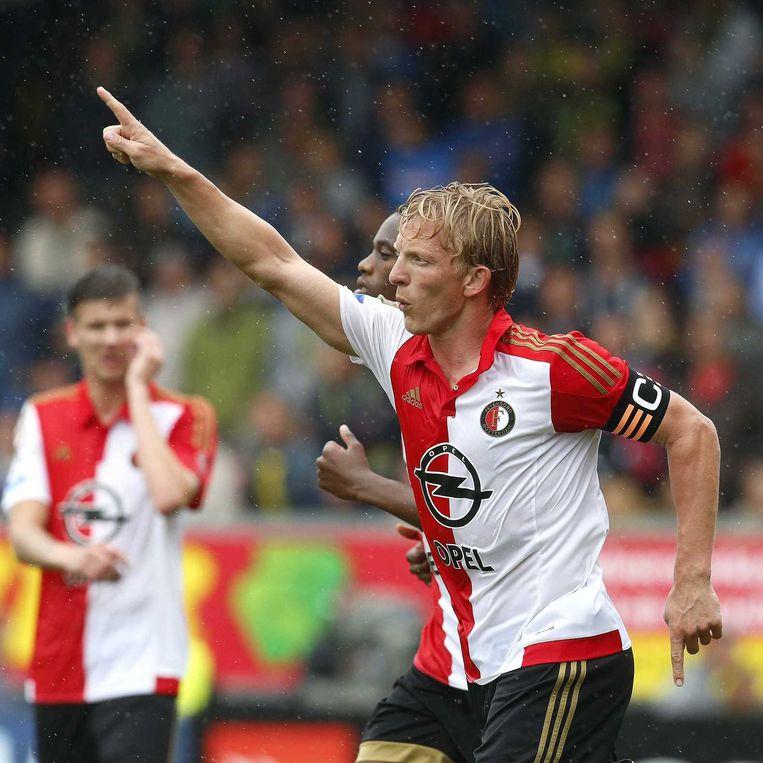 Feyenoord-speler Dirk Kuyt na de 0-2. Beeld anp