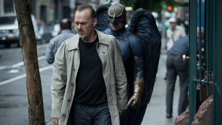 Michael Keaton in 'Birdman'. Beeld rv