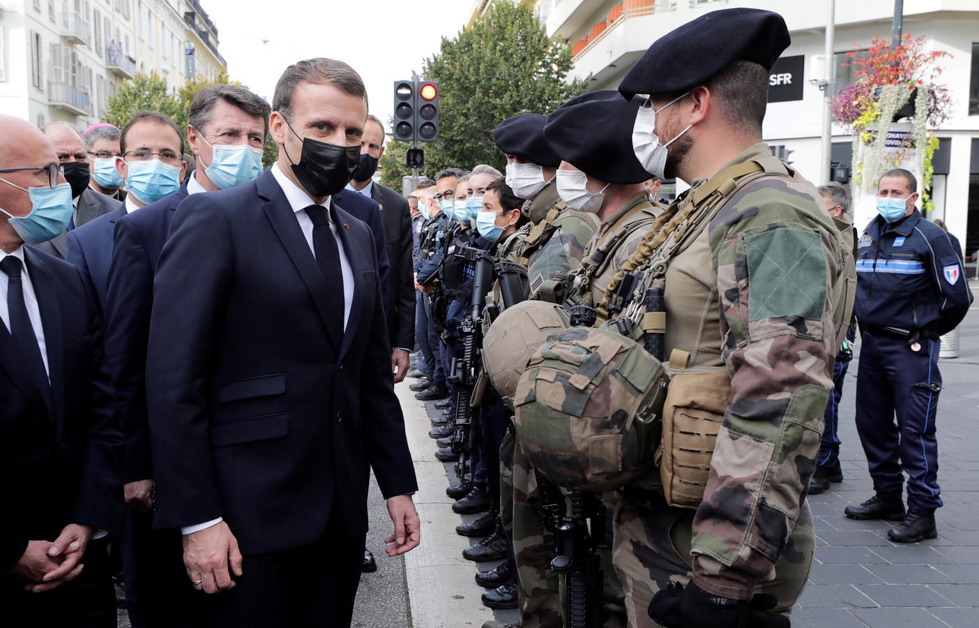 President Macron in Nice.