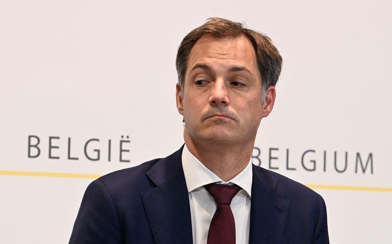Premier Alexander De Croo Beeld BELGA