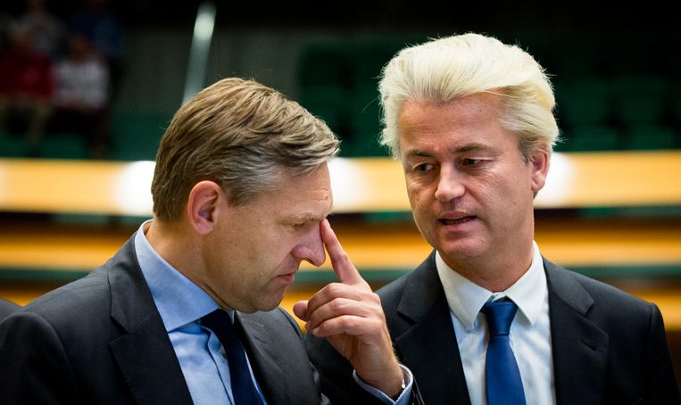 Tocqueville-experts Buma (CDA) en Wilders (PVV). Beeld anp