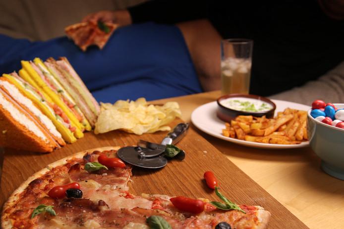 Pizza, chips en chocola: allemaal sterk bewerkt voedsel.