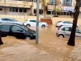 Wateroverlast in delen van Spanje door zware regenval