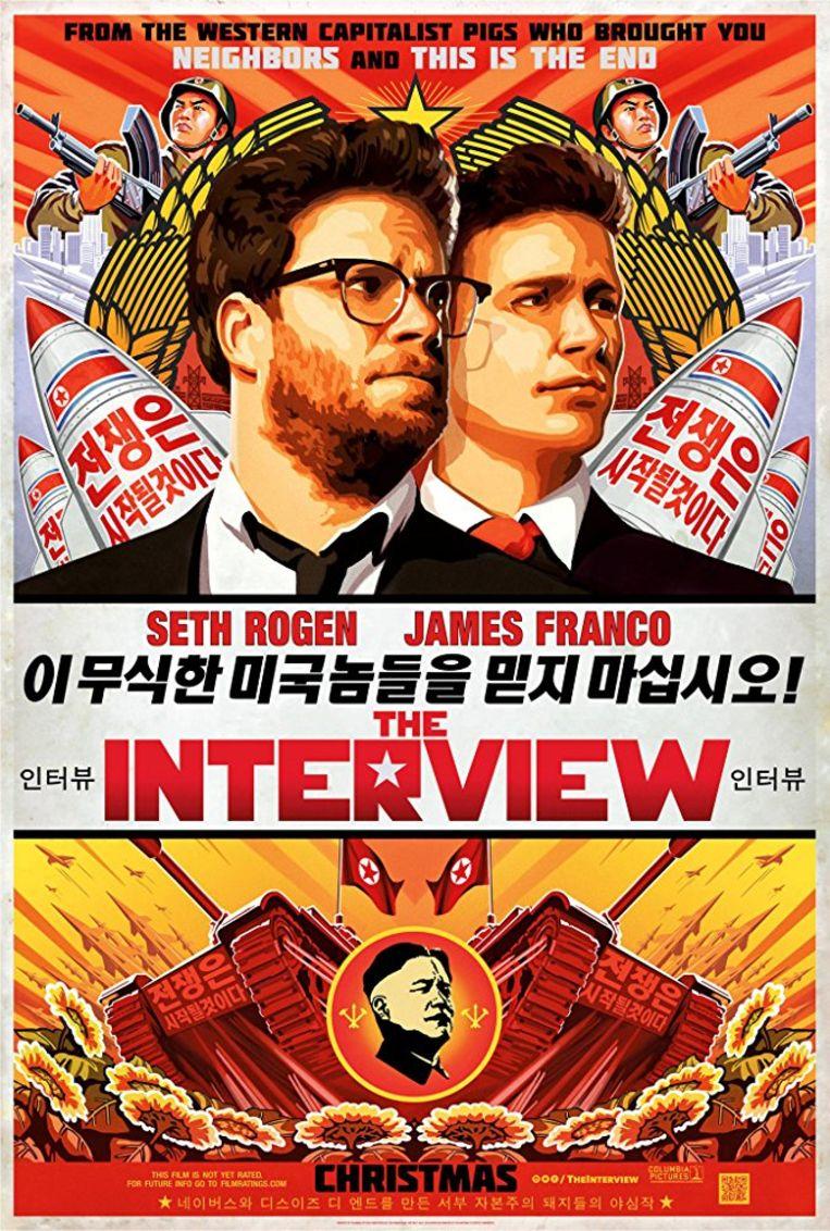 Filmposter van The Interview. Beeld IMBD