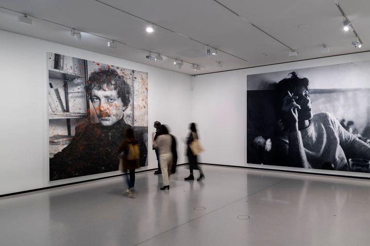 De aan werk van kunstenaar Rudolf Stingel gewijde zaal in het museum. Beeld Getty Images