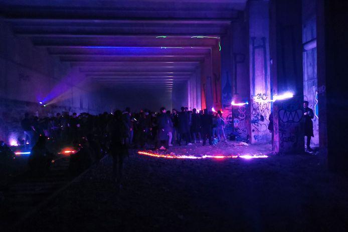 Image de la fête organisée à Paris samedi soir