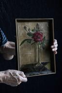 Voorwerp Pieter, het schilderij van een onbekende kunstenaar, van  oor de oorlog, dat hij nog steeds in zijn bezit heeft.