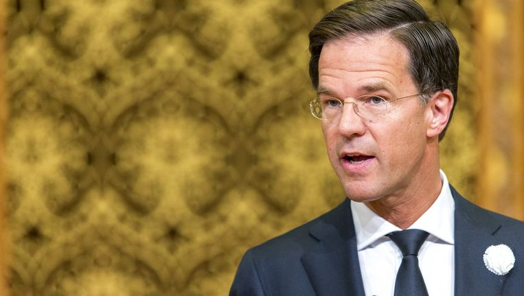 Premier Mark Rutte op Veteranendag. Beeld anp
