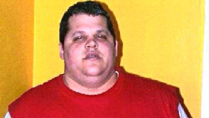 Ross Gardner voordat hij aan zijn dieet begon. De man viel 90 kilo af.