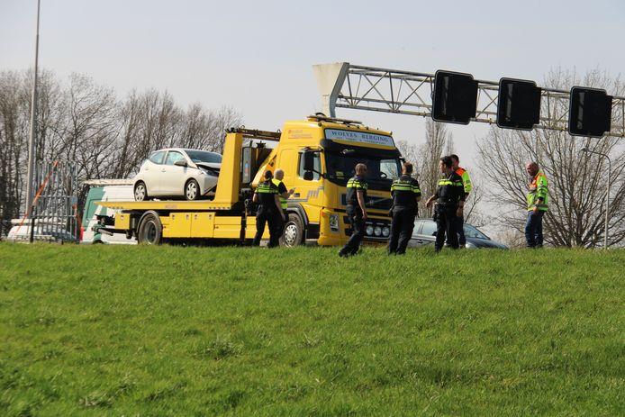 Ongeval op de A1 tussen Voorst en Deventer.