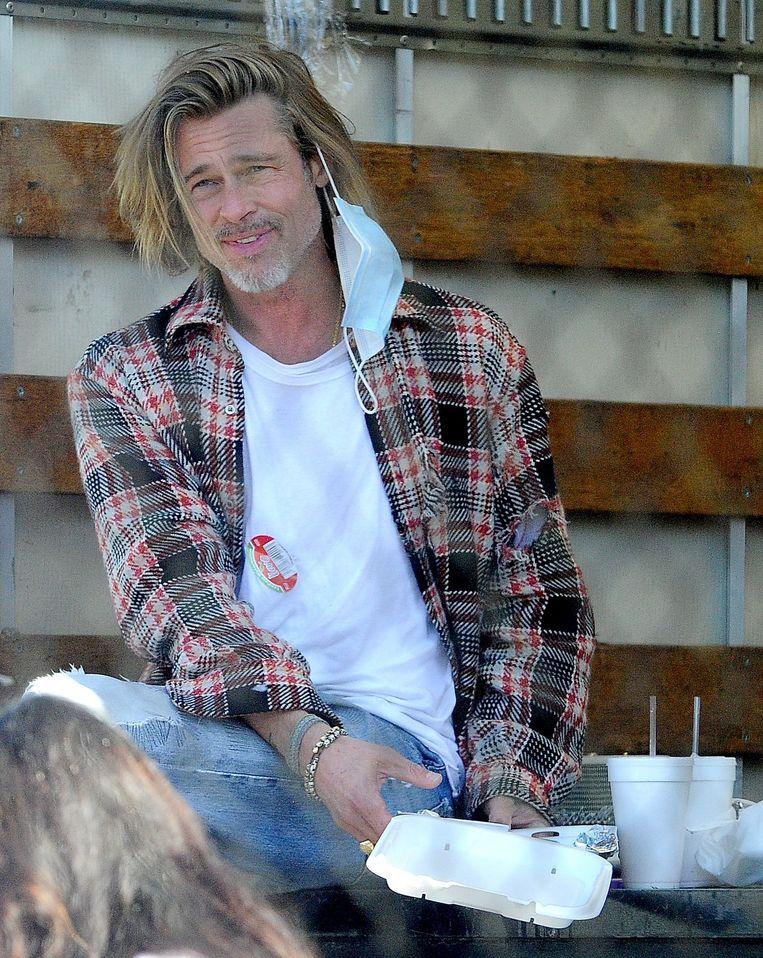 Brad Pitt is een fan en vriend van Thomas Houseago. Beeld Photo News