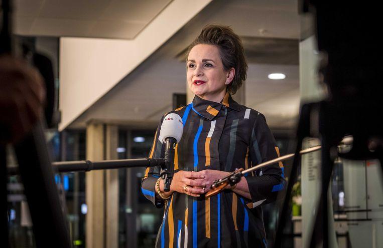 Demissionair staatssecretaris Alexandra van Huffelen. Beeld ANP