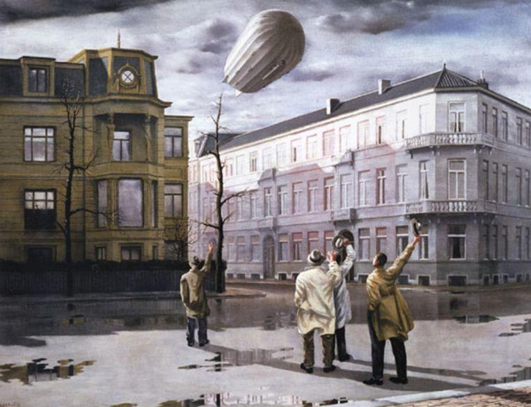 Carel Willink: De zeppelin, 1933 (Frisia Museum) (.) Beeld