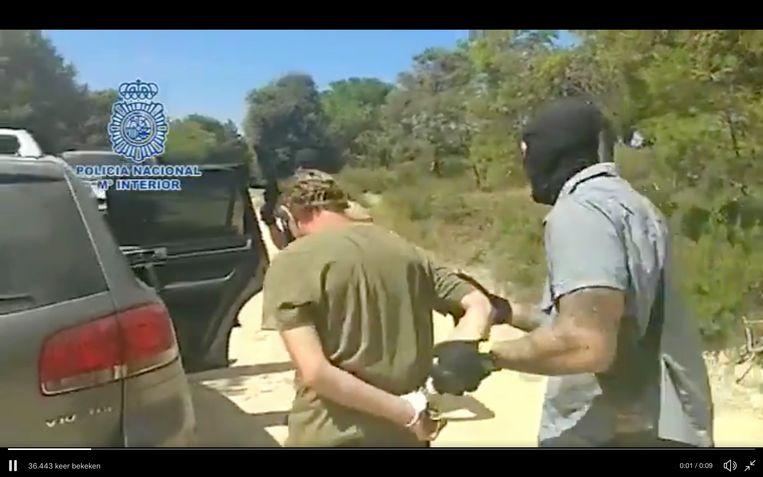 Policía Nacional arresteert Jos Brech. Beeld Policía Nacional