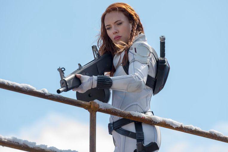 Scarlett Johansson in 'Black Widow'. Beeld Marvel