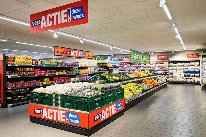 Zo komt de vernieuwde Aldi op locaties in onder meer Hengelo en Enschede eruit te zien.