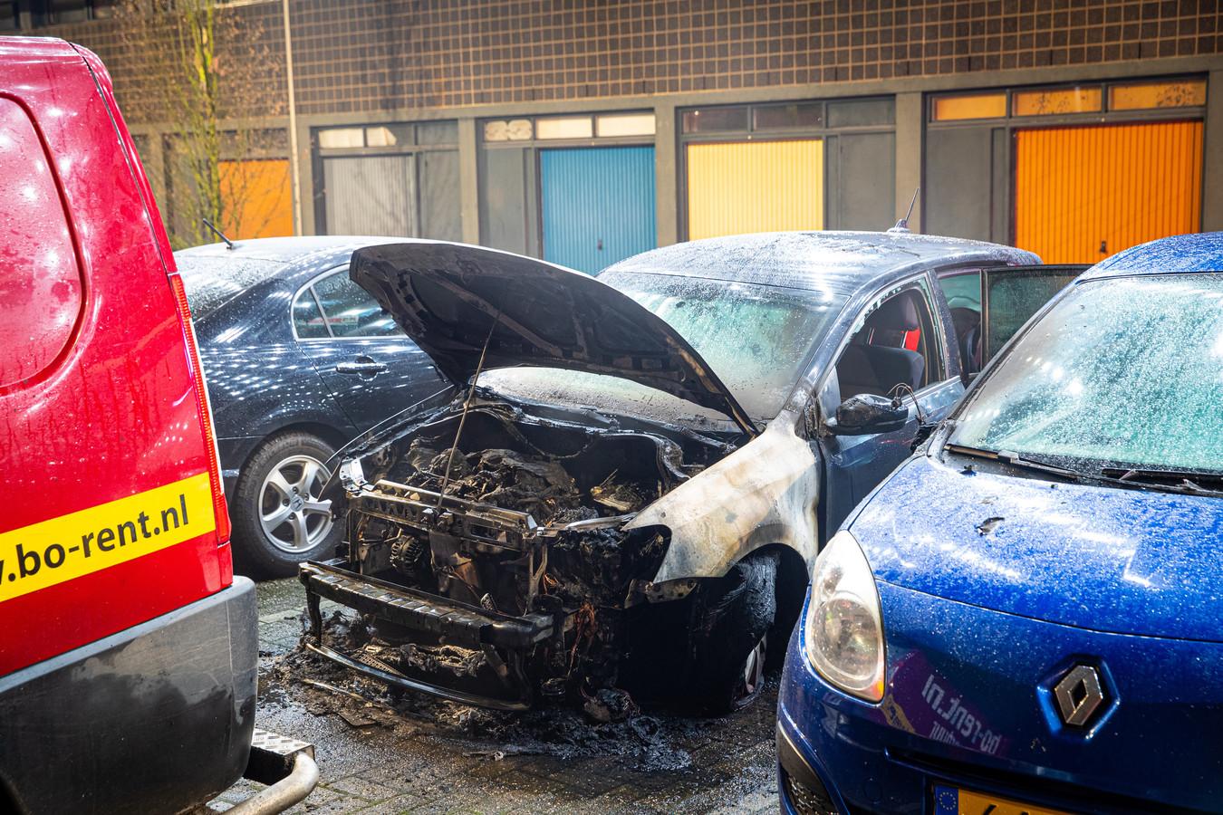Autobrand in Holtenbroek