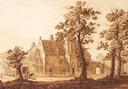 Tekening van de voormalige buitenplaats Crabbehof rond 1790.
