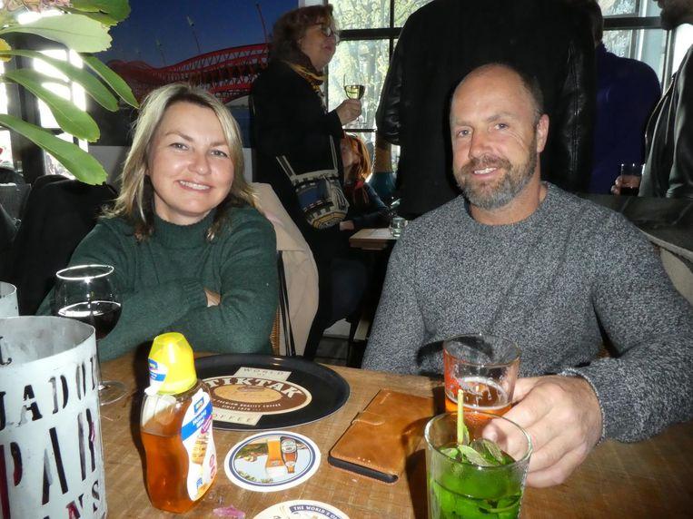 Daphne van de Laak, partner van Jim Stam, neef van Gerardine, dus slechts heel ver familie van Otje. Beeld Hans van der Beek
