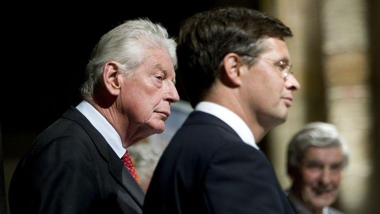 De oud-premiers Wim Kok en Jan Peter Balkenende. Beeld anp