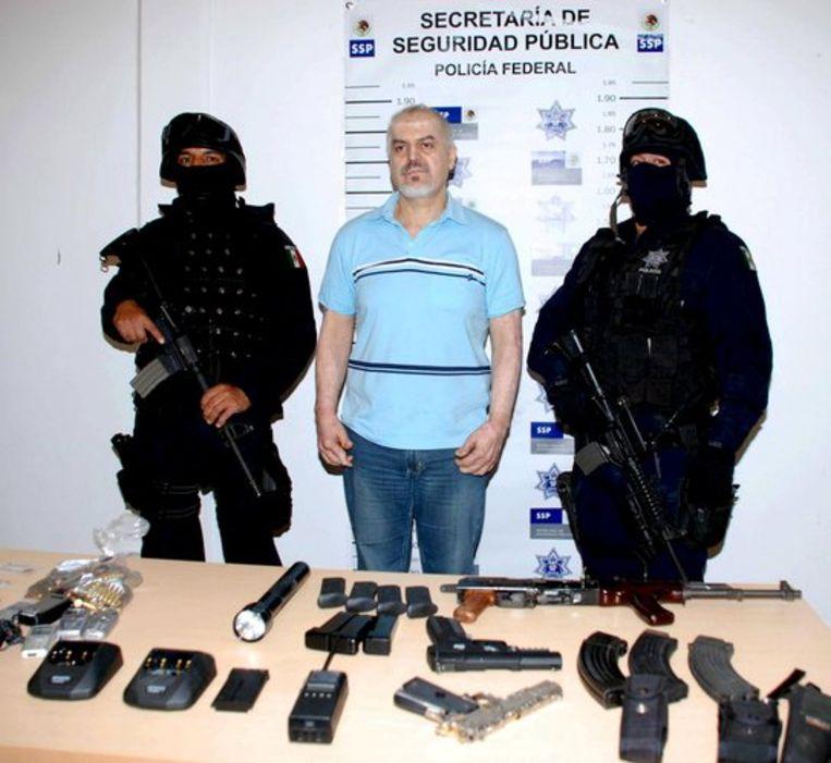 Eduardo Arellano Félix na zijn arrestatie. Foto EPA/SSP Beeld