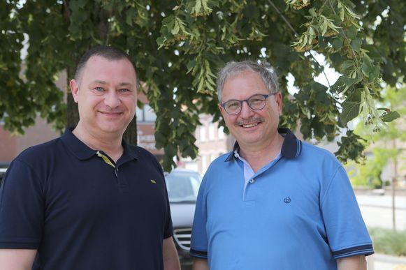 Burgemeester Peter Reekmans en burgemeester Marc Wijnants.