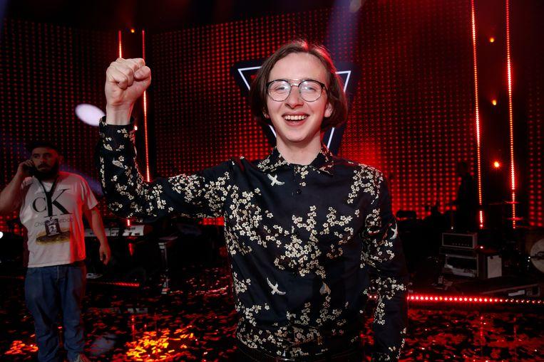 Ibe Wuyts, winnaar van The Voice Van Vlaanderen 2019.