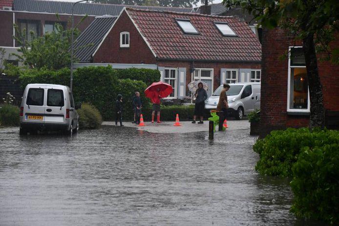 Begin juni was er ook al wateroverlast in Meliskerke, na een fikse bui.