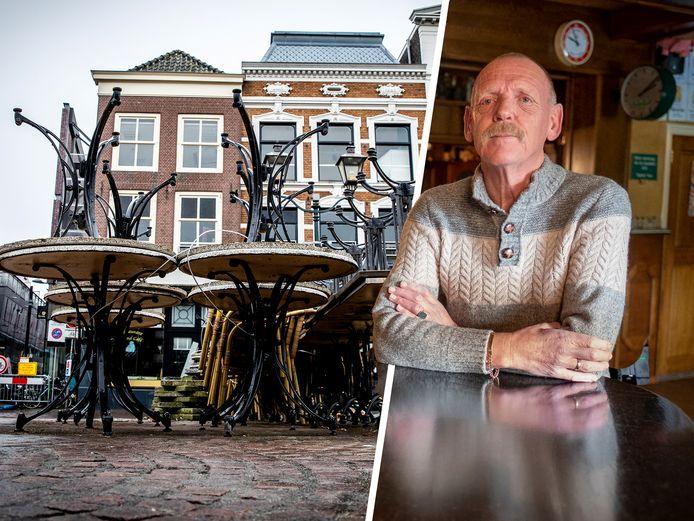 Teunis Frederiks besloot zijn terras in Wapenveld nog maar even gesloten te houden omdat het voor hem met de versoepelingen niet rendabel is om de hele week open te zijn. (Inzet ter illustratie)