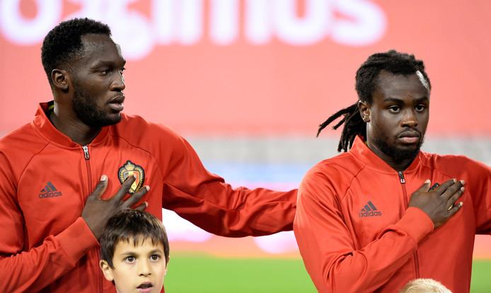 Romelu et Jordan Lukaku sous le maillot des Diables