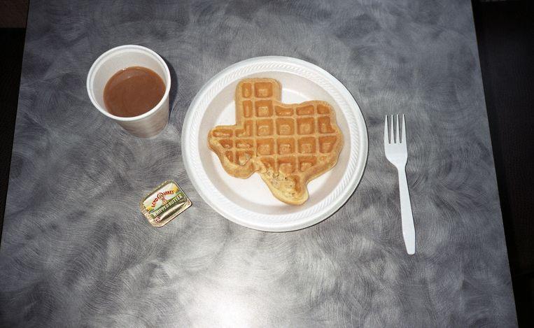 Een wafel die je alleen in Texas op je ontbijtbord kunt krijgen. Beeld Sandy Carson/INSTITUTE