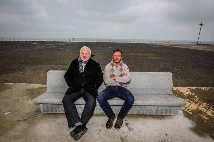 Middelkerke: Jean Marie Dedecker en Henk Dierendonck op de plaats van het nieuwe casino