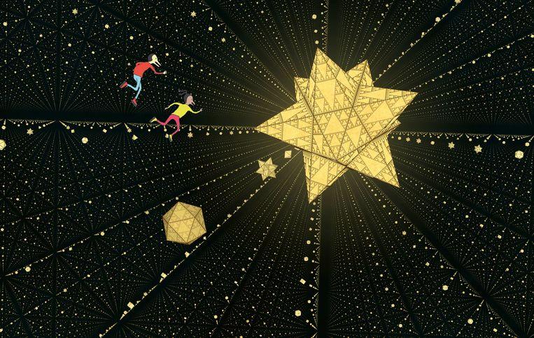 De wondere wereld van Nadir en Zenith in de wereld van Escher. Beeld Wouter van Reek