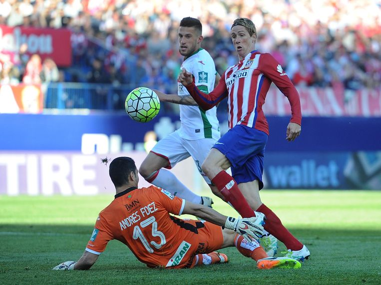 Fernando Torres scoort voor Atlético. Beeld getty