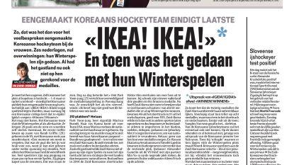 """""""IKEA! IKEA!""""* En toen was het gedaan met hun Winterspelen"""