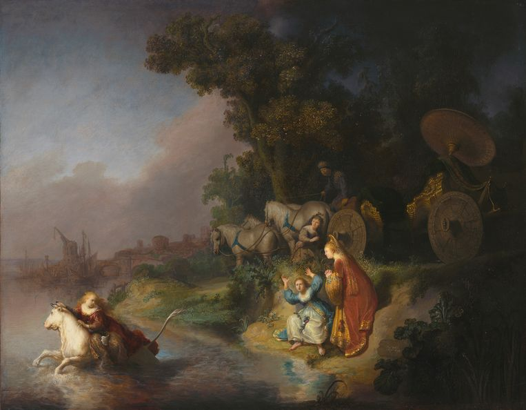 Rembrandt: De roof van Europa, 1632.   Beeld The J. Paul Getty Museum, Los Angeles