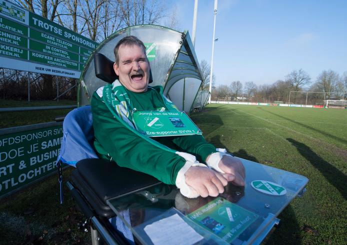 Jonny van der Maat werd begin 2017 uitgeroepen tot eresupporter van voetbalclub SVVN.