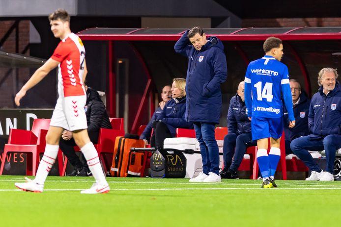 John Stegeman tijdens het uitduel met FC Emmen.