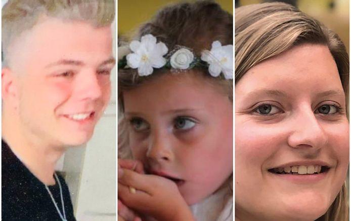 Tibau Verelst (18) uit Kasterlee, Loes De Laat (7) uit Schoten en Kirsten (24) uit Kallo.