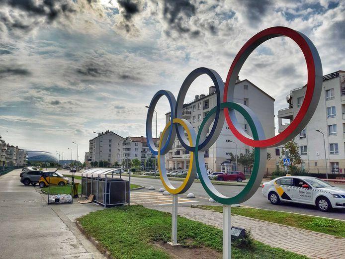 Olympische ringen in Sotsji