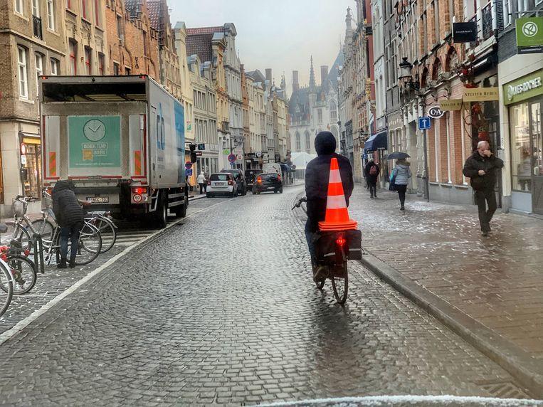 Fietser Steenstraat
