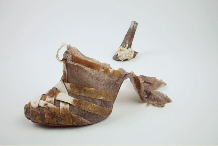 Een ontwerp van de Belgische schoenontwerpster Kristel Peters. Beeld rv