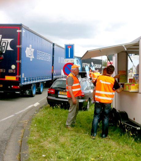 'Drive-in staking' chauffeurs voor meer loon en een koele cabine