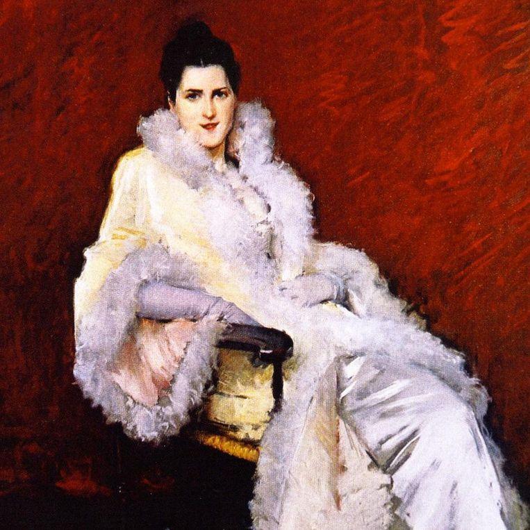 William Merrit Chase, Portrait of Miss C. (Mrs Clark), 1893. Beeld Grand Rapids Art Museum, Michigan